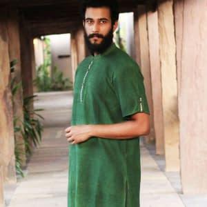 Khadiji gents kurta half sleeves