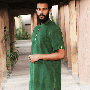 Khadiji gents kurta half sleeves