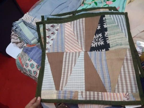 Khadi cushion covers