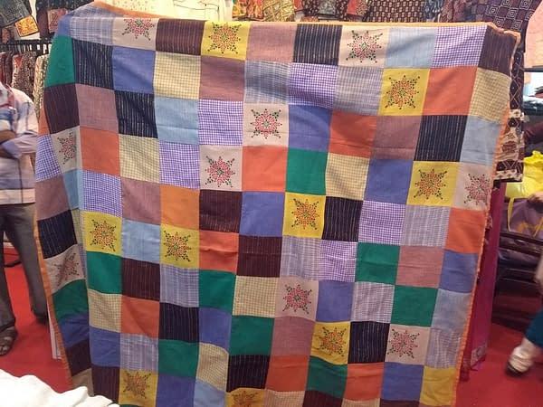 Khadi reversible bed cover